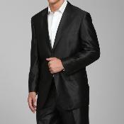 Shiny Black 2-button Suit