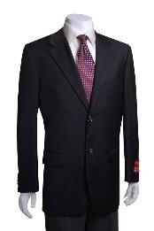 2-button Black Wool Jacket/Blazer