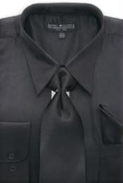 Black Shiny Silky Satin