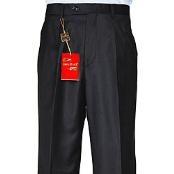 Black Single-pleat Wool Dress