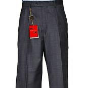 Charcoal Grey Wool Single-pleat