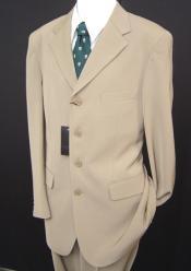 Mens Tan Linen Suit