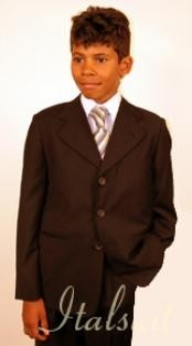 Button Brown Suit For