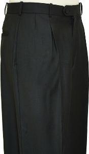 Wide Leg Slacks Pleated