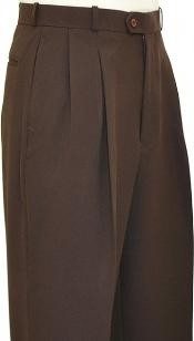 Brown Wide Leg Slacks
