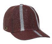 Ostrich Skin Hat Burgundy