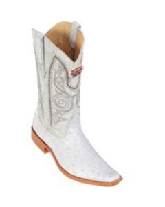 Altos White Ostrich Cowboy