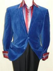 Blue Velvet Blazer Jacket