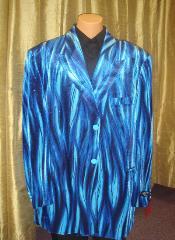 Flame Jacket/Blazer in Blue
