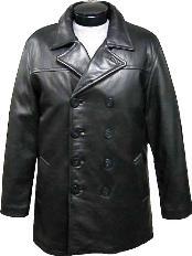 Classic Pea-Coat Black
