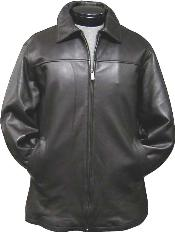 Traditional Coat Black Leather