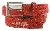 Genuine Stingray Belt Red