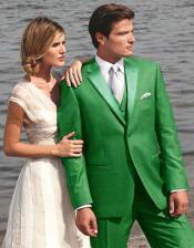 Green Two Button Tuxedo