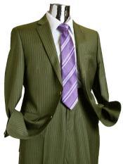 Mens Olive Suit
