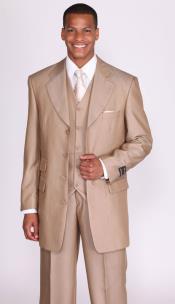 Mens Tan Suit