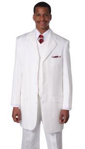 Mens White Church Suit