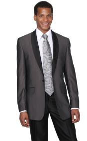 Charcoal Shawl Collar Tuxedo