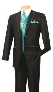 & Formal Black Turquoise