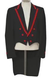 Black Tailcoat Tuxedo With