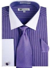 Mens Stripes Dress Shirt