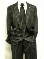 3 Piece Black Fashion Suit