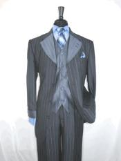 4 button Grey Single Breasted Suit