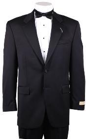 1/2 Buttons Black Tuxedo