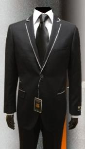 tuxedo suits Black Gianni