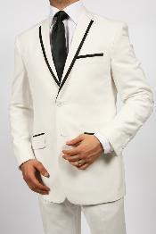 Button White Tuxedos Suit
