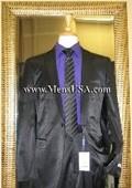 1 Button Shiny Black Suit