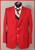 Mens Red SportCoat