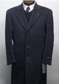 Sentry3310 45 Inch Charocal Gray classic model features button front Wool&Cashmere