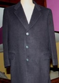 Sentry3310 45 Inch Navy Blue classic model features button front Wool 3 button style