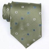 Green/White/Blue Woven Necktie $39