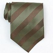 Olive/Brown Woven Necktie $39
