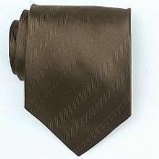 Silk Brown Woven Necktie