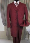 6498 BURGUNDY FASHION ZOOT