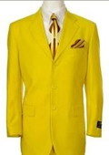 Beautiful Mens Bright Yellow Fashion Dress With Nice Cut Smooth Soft Fabric
