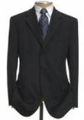 Mens Black Wool Suit