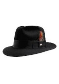 Black Untouchable Fedora Hat
