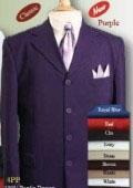 Purple Single Breasted Suit