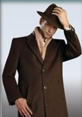 "Brown overcoat 45"" single"