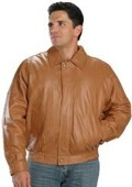 Bomber Leather Jacket In