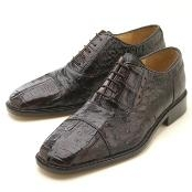 Brown Croc/Ostrich Lace-Up $339
