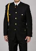 Mens Cadet-Uniform Black Suit