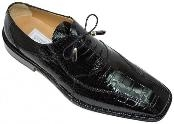Black Alligator Skin Shoes