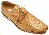 Cognac Genuine Crocodile/Ostrich Shoes