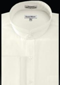 Cuff Banded Collar Shirt