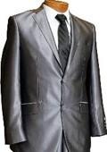 2 Button Shiny Grey Suit