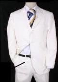 Mens White Designer Suit